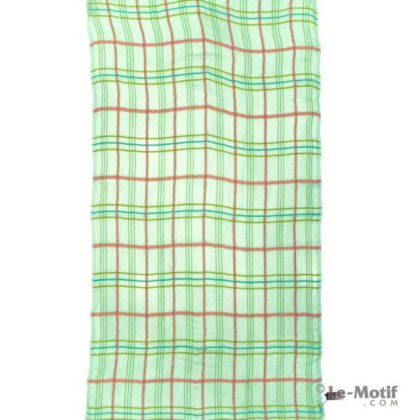 Платок Le Motif из шерсти и модала. Цвет - зелёный, арт. ZG01-2