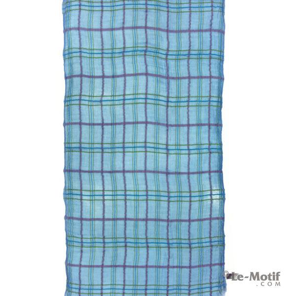 Платок Le Motif из шерсти и модала. Цвет - синий, арт. ZG01-5