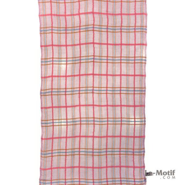 Платок Le Motif из шерсти и модала. Цвет - сиреневый, арт. ZG01-6