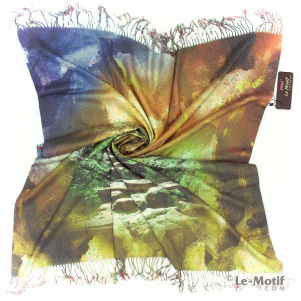 Платок Le Motif из шерсти и хлопка. Фото для каталога, арт. 15GF402