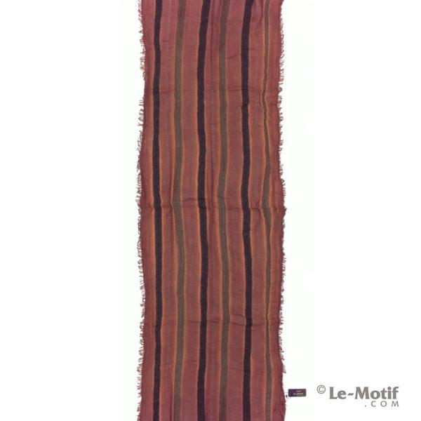 Шарф Le Motif из шерсти и хлопка. Цвет - бордовый, арт. STD01-11