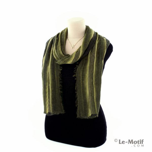 Шарф Le Motif из шерсти и хлопка. Способ завязывания, арт. STD01-13