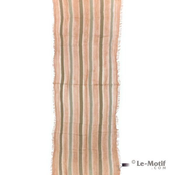 Шарф Le Motif из шерсти и хлопка. Цвет - персиковый, арт. STD01-4