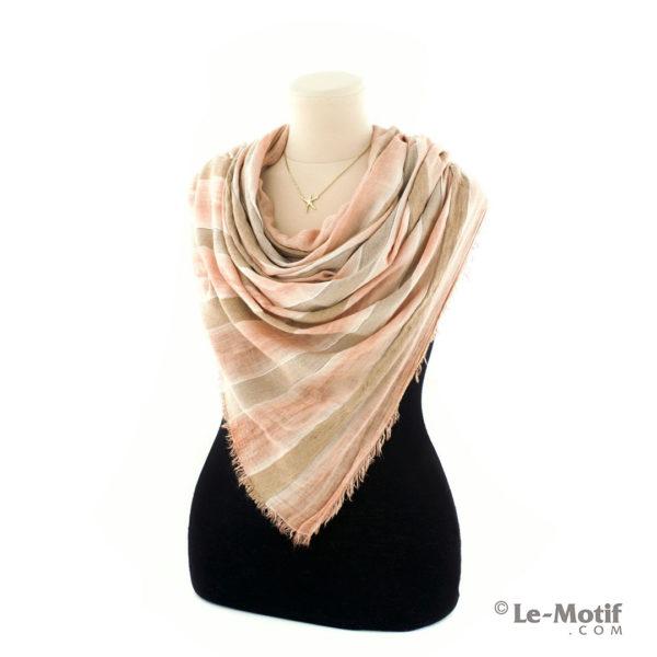 Шарф Le Motif из шерсти и хлопка на шее, арт. STD01-4