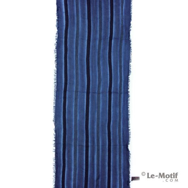 Шарф Le Motif из шерсти и хлопка. Цвет - синий, арт. STD01-5