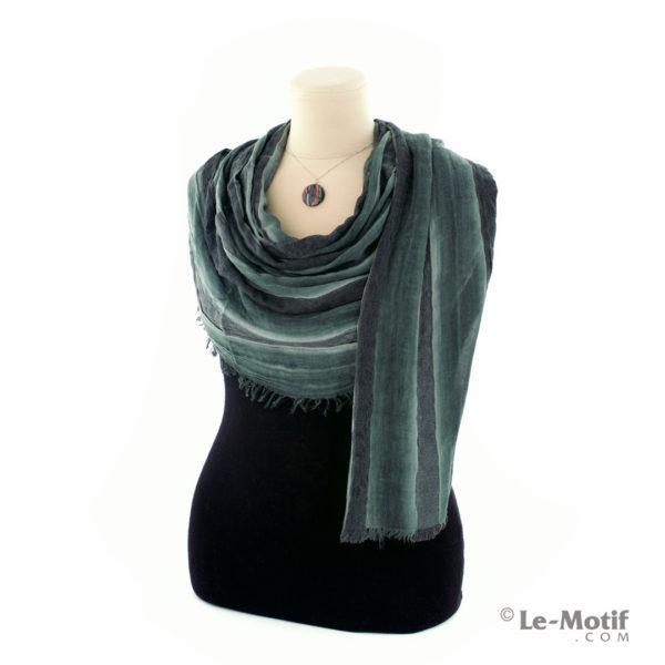 Шарф Le Motif из шерсти и хлопка. Как красиво завязать, арт. STD01-6