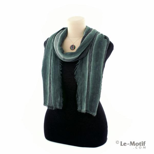 Шарф Le Motif из шерсти и хлопка способ завязывания, арт. STD01-6