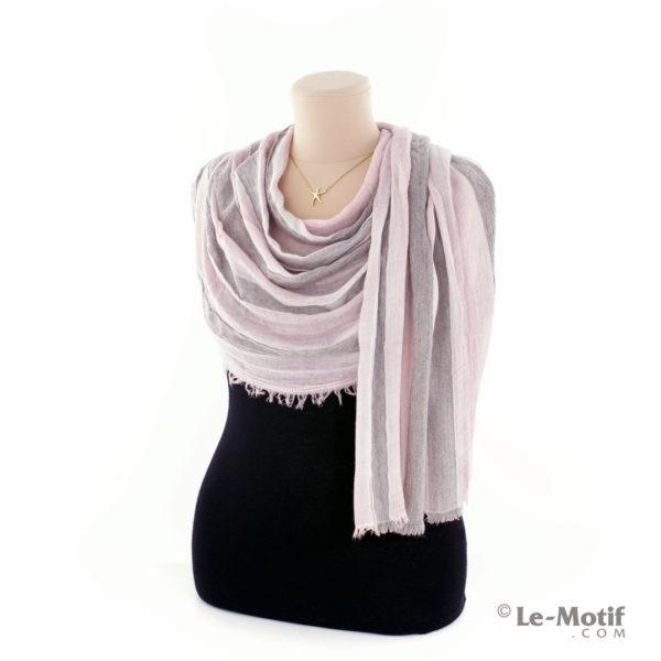 Шарф Le Motif из шерсти и хлопка. Как красиво завязать, арт. STD01-7